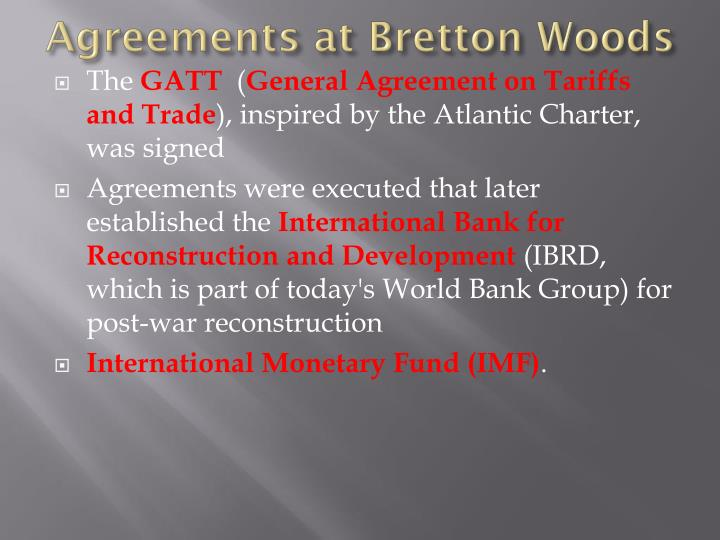 Agreements at