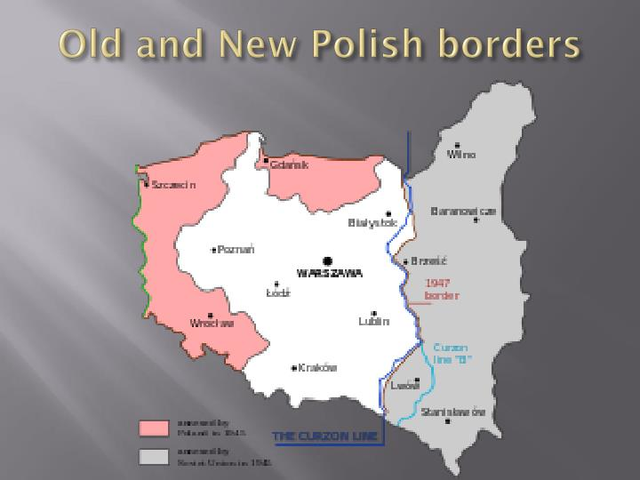 Old and New Polish borders