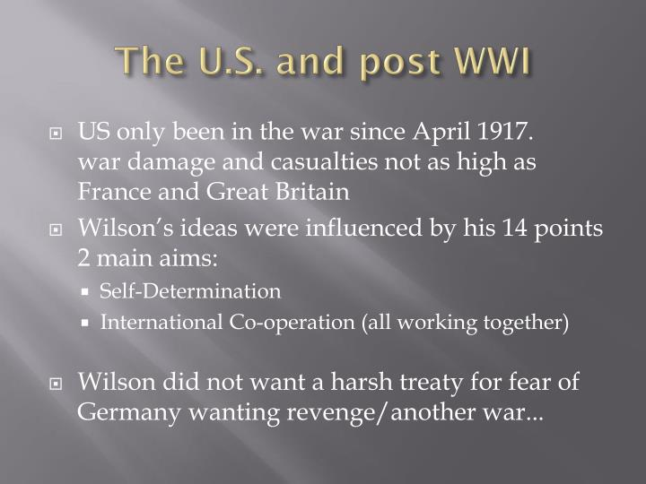 The U.S. and post WWI