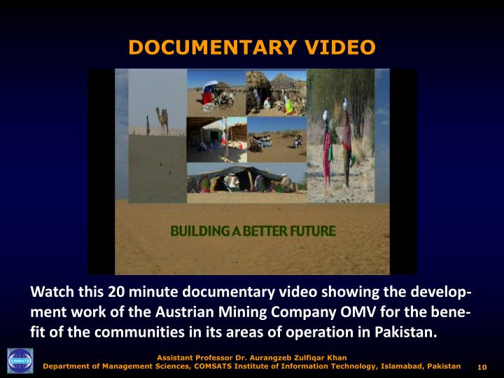 DOCUMENTARY VIDEO