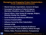 managing and engaging project stakeholders trust contextual determinants
