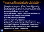 managing and engaging project stakeholders trust interactional experiential determinants