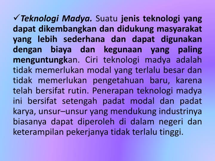 Teknologi Madya.