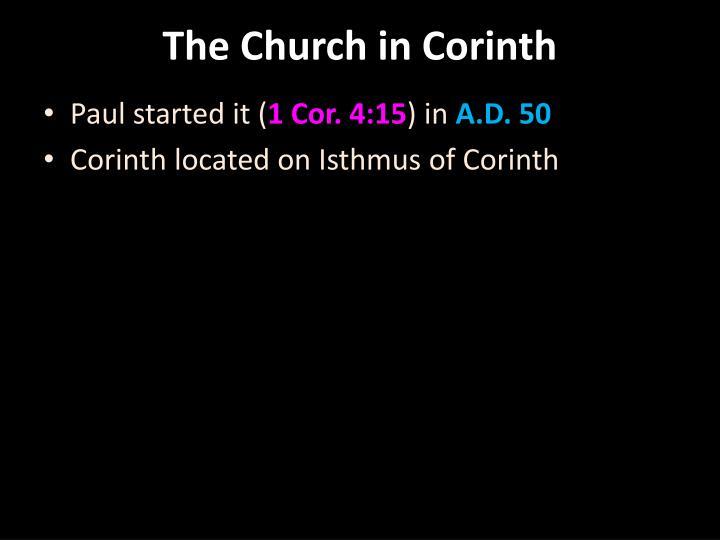 The Church in Corinth