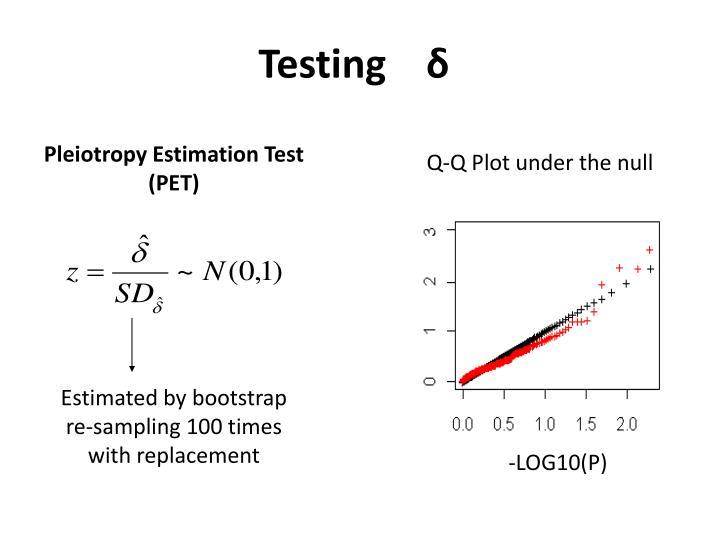 Q-Q Plot under the null