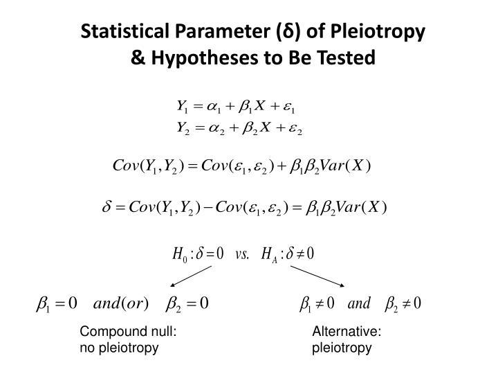 Statistical Parameter (