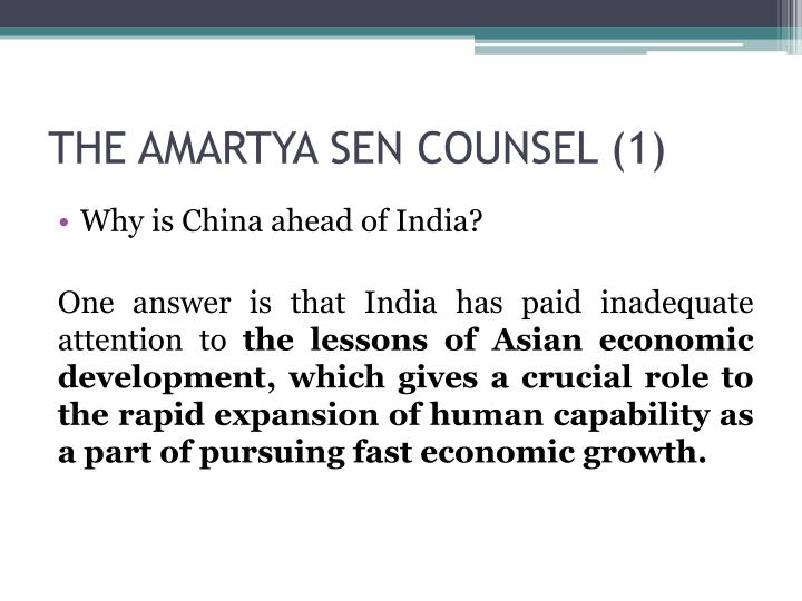 THE AMARTYA SEN COUNSEL (1)