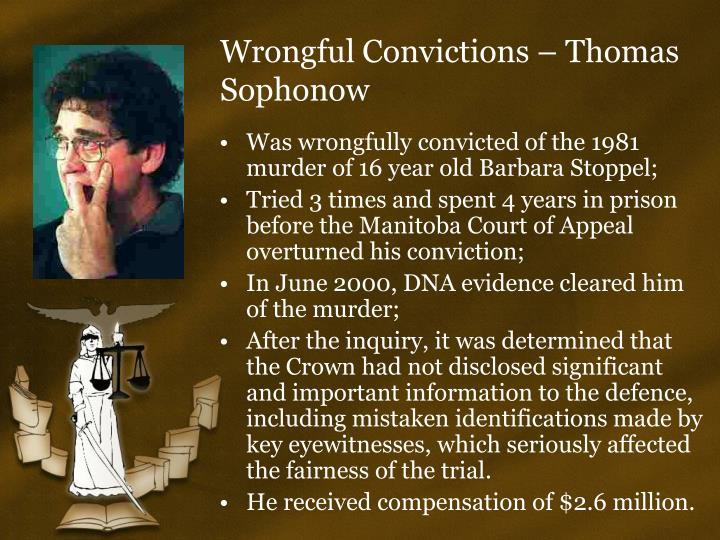steven truscott miscarriage of justice The trials of steven truscott introduction the acquittal of steven truscott, more than 48 years after his trial and miscarriages of justice the truscott.