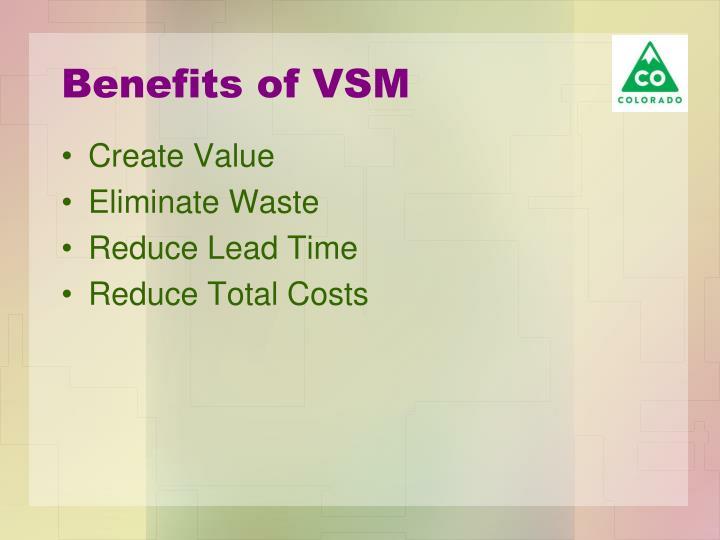 Benefits of VSM