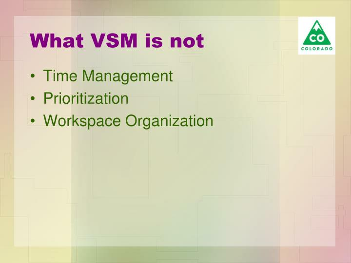 What VSM is not