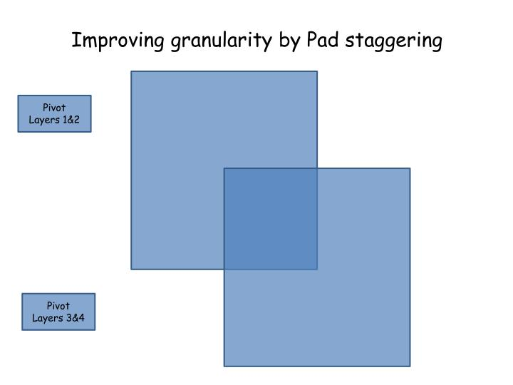 Improving granularity by Pad staggering
