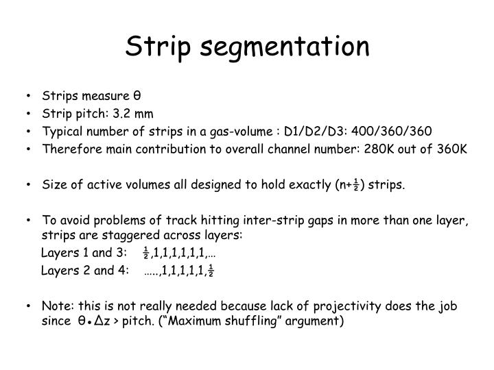 Strip segmentation