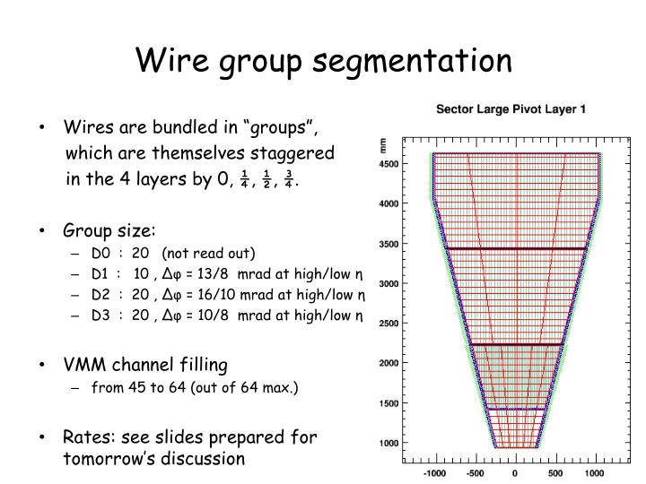 Wire group segmentation