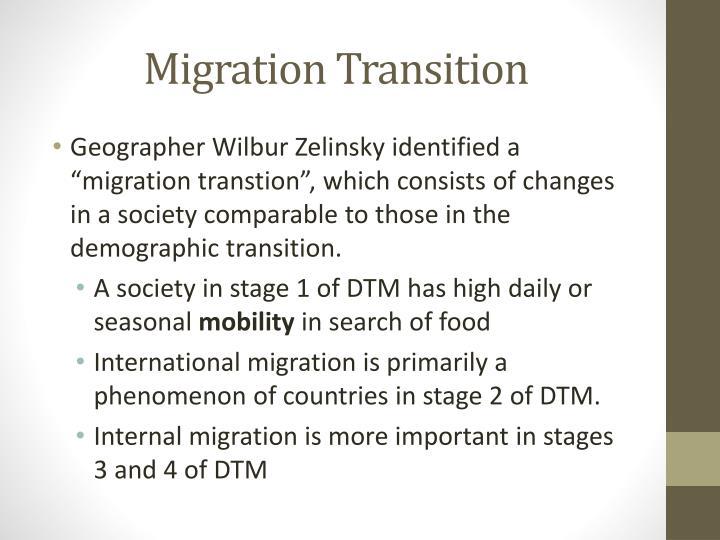Migration Transition