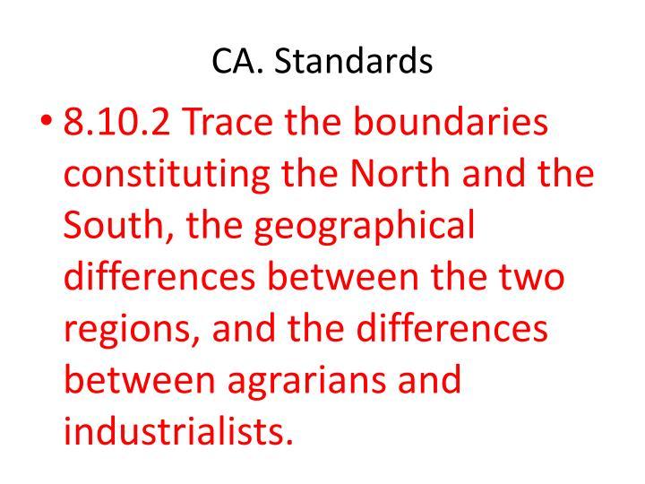 CA. Standards