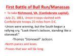 first battle of bull run manassas