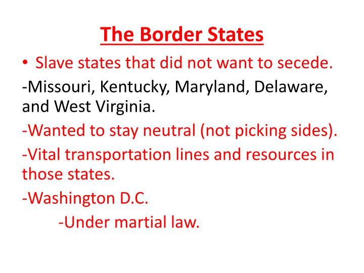 The Border States