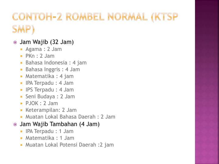 CONTOH-2 ROMBEL NORMAL (KTSP SMP)