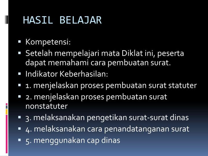 HASIL BELAJAR