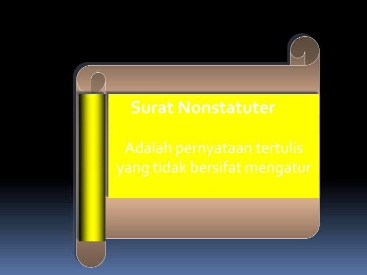 Surat Nonstatuter
