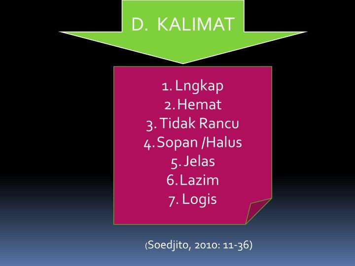 D.  KALIMAT
