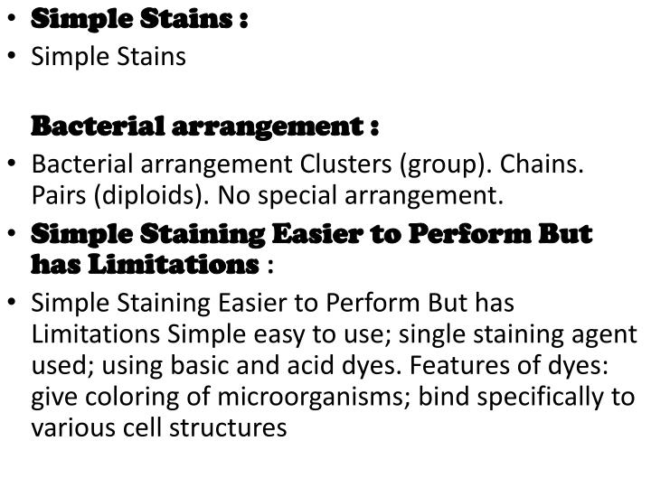 Simple Stains :