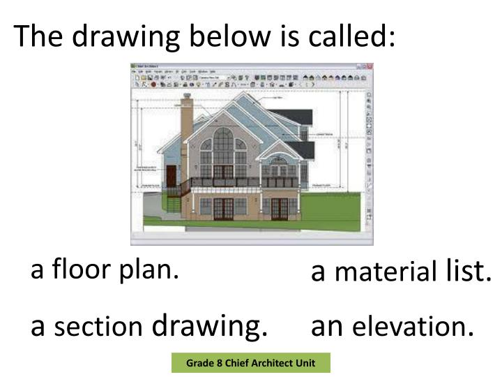 The drawing below is
