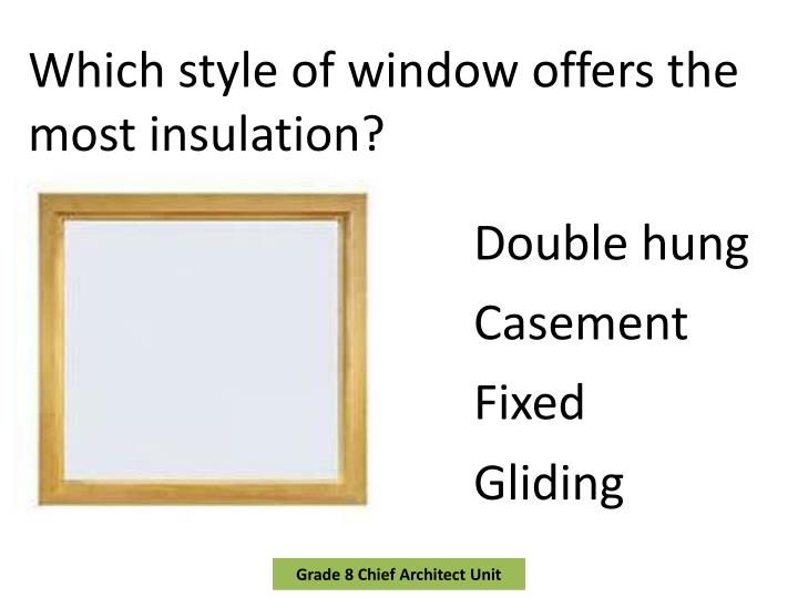 Which style of window offers the most insulation?