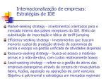 internacionaliza o de empresas estrat gias de ide