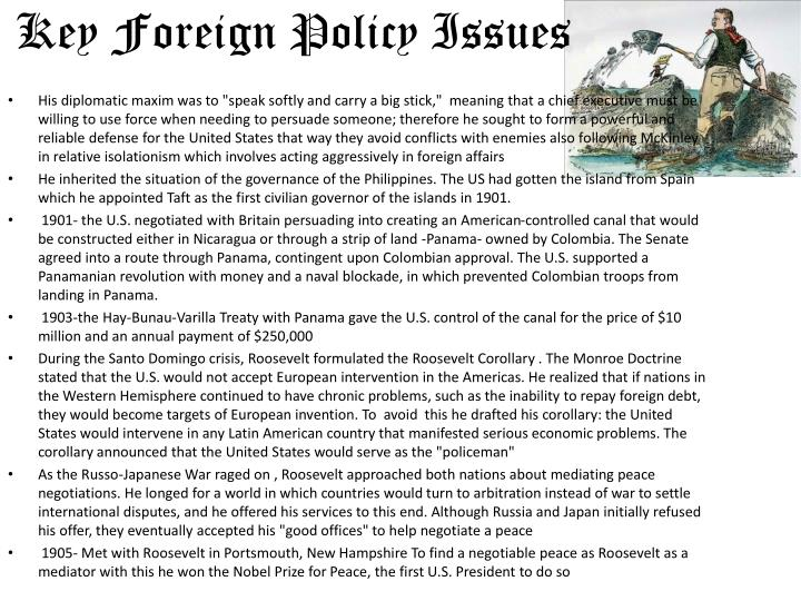 Key Foreign Policy Issues