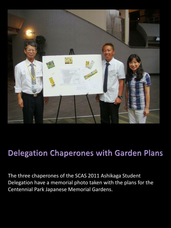 Delegation Chaperones with Garden Plans
