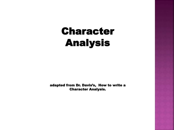 How to write a character analysis title