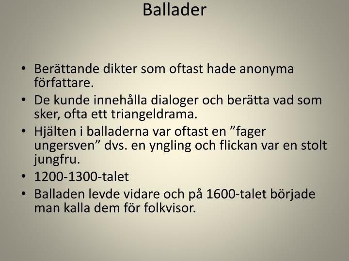 Ballader