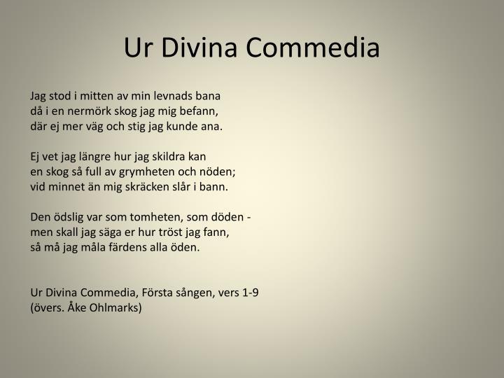 Ur Divina Commedia