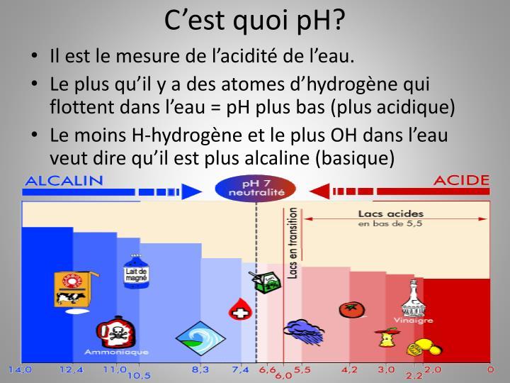 Ppt comment l eau est affecter par l activit humaine et le changement climatique powerpoint - Comment mesurer le ph ...