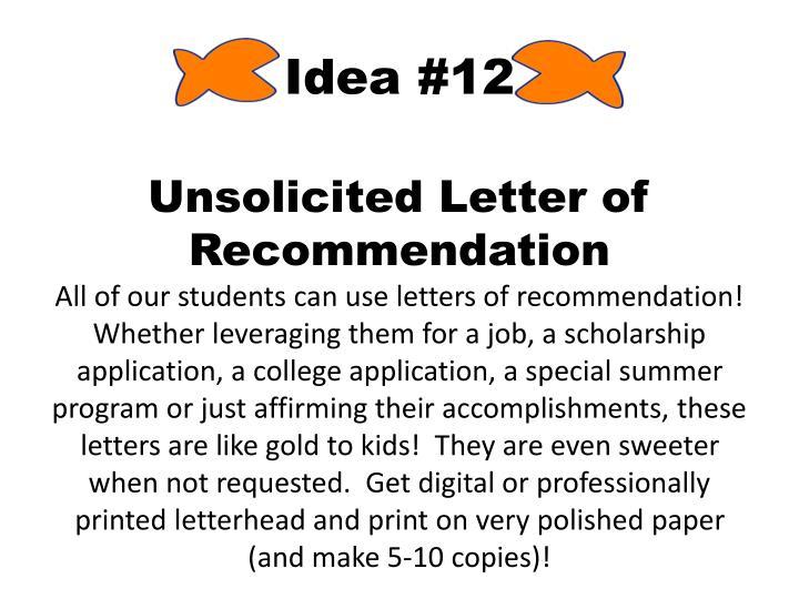 Idea #12