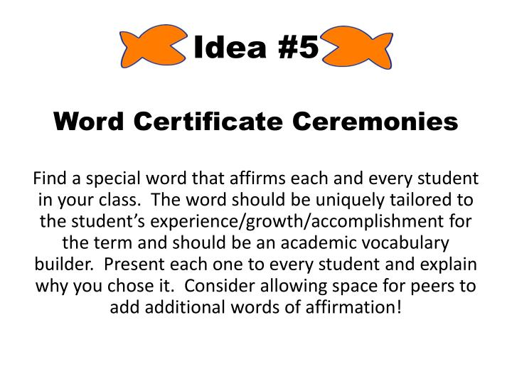 Idea #5