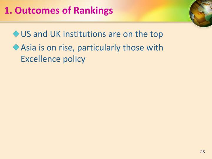 1.Outcomes of Rankings
