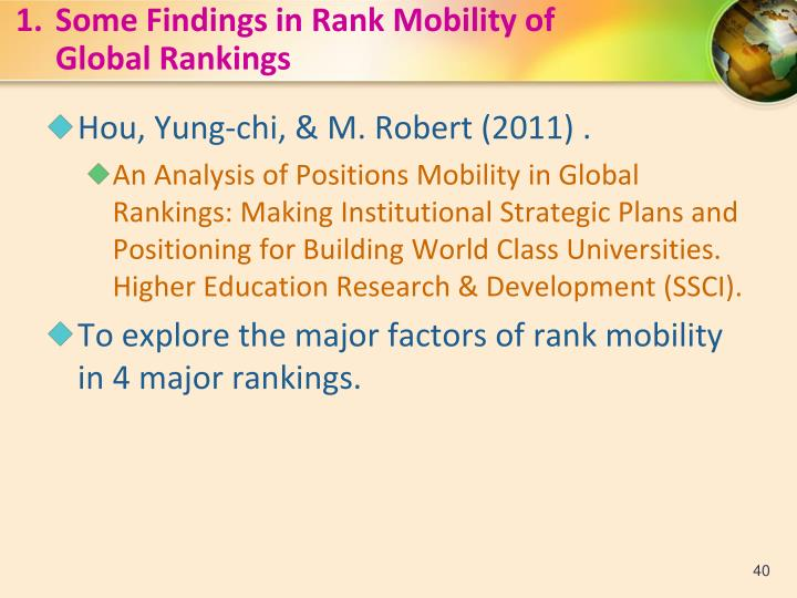 1.Some Findings in Rank Mobility of