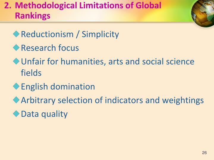 2.Methodological Limitations of Global