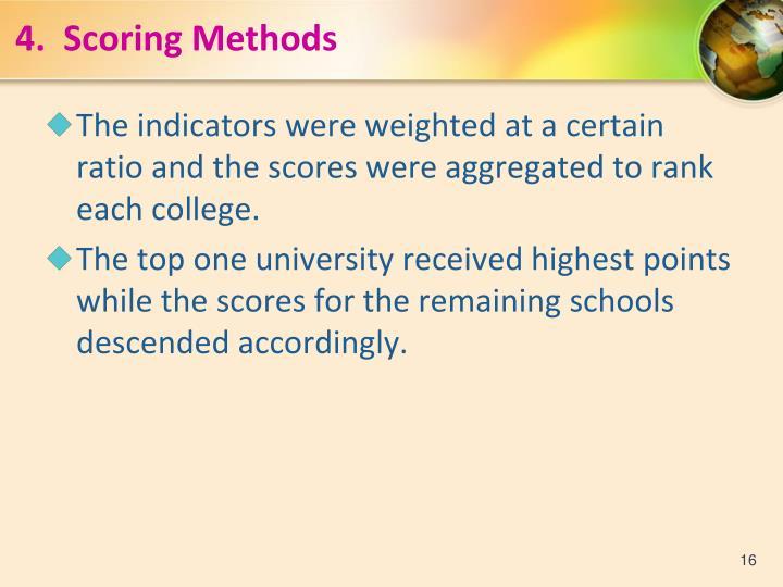 4.  Scoring Methods