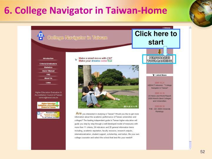 6.College Navigator in Taiwan-Home