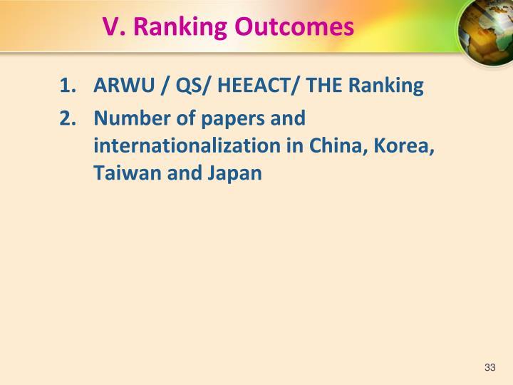 V. Ranking Outcomes