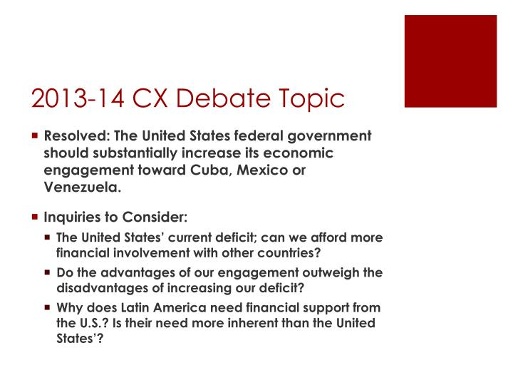 2013-14 CX Debate Topic
