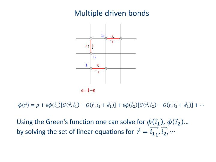 Multiple driven bonds