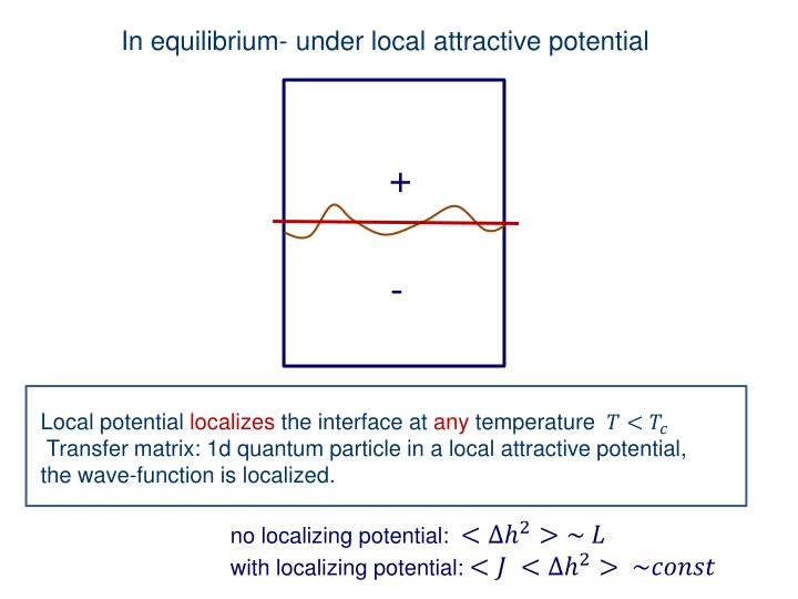 In equilibrium- under local attractive potential
