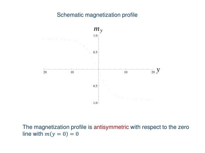 Schematic magnetization profile