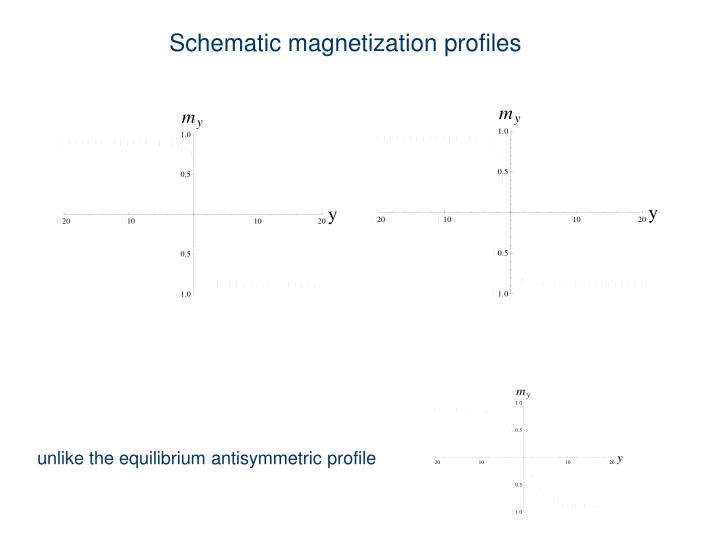Schematic magnetization profiles