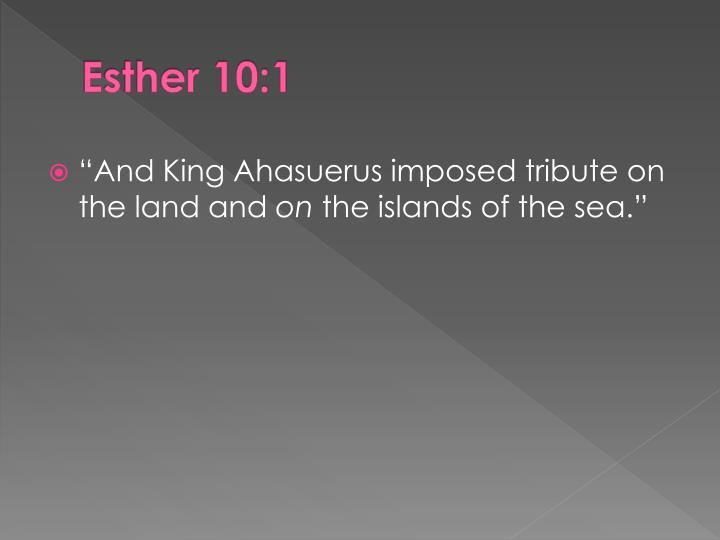 Esther 10:1