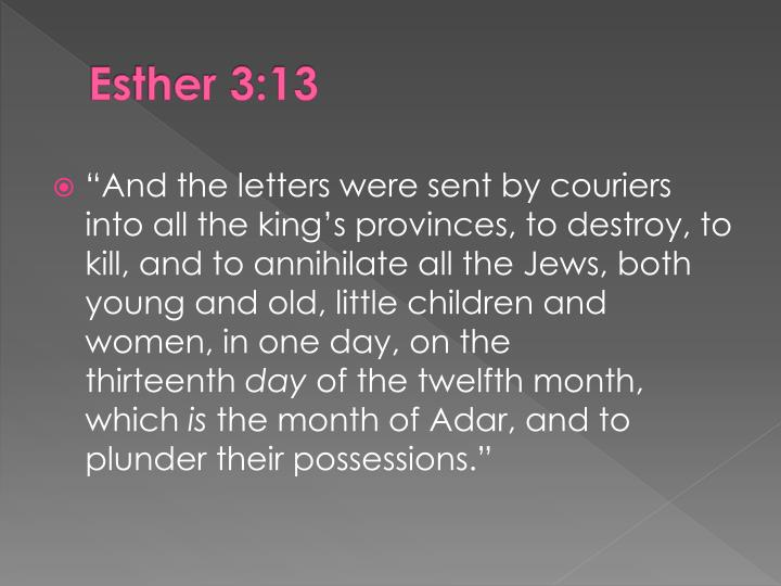 Esther 3:13